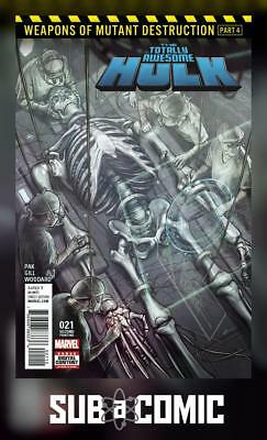 TOTALLY AWESOME HULK #21 STONEHOUSE VARIANT (MARVEL 2017 2nd Print) COMIC