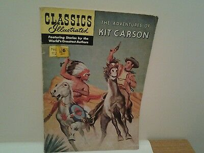 classics illustrated no.112 kit carson comic
