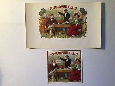 Turnover Club Inner & Outer Cigar Box Labels