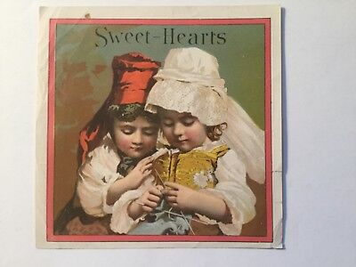Sweet Hearts Outer Cigar Box Label