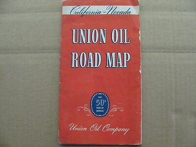 1940 California - Nevada Union Oil Road Map