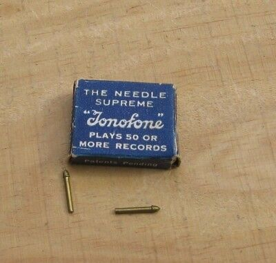 Antique R.C. Wade Chicago Tonofone Phonograph Talking Machine Needles Box  c