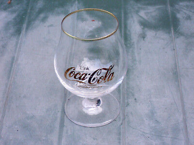 Coca Cola Glas 0,3l Schwenker Sonderedition Gold