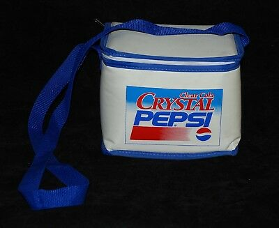 Vintage Crystal Pepsi 6 Pack Insulated Cooler Lunch Box Bag