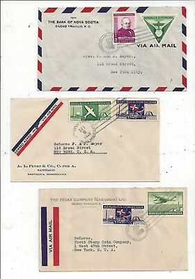 Dominican Republic 1930s Airmail Cover Lot