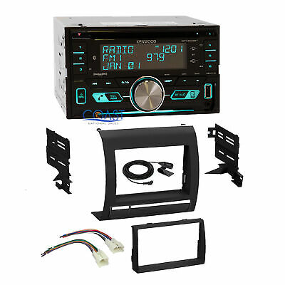 Kenwood CD Sirius Bluetooth Stereo DDin Dash Kit Harness for 05+ Toyota Tacoma