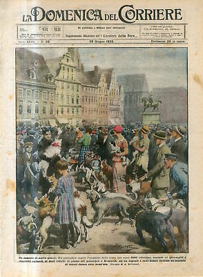 1925 To protest against the increase in tax on dogs in Wroclaw Poland Print