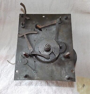 Antique / Vintage Grandfather Clock movement - spares & repairs - A