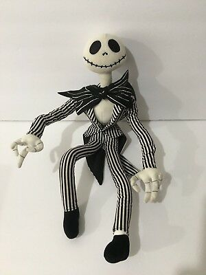"18"" Disney The Nightmare Before Christmas Jack Skellington Doll Poseable Plush"