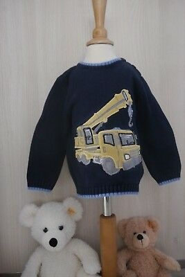 Ministry of Rascals Pullover blau gelb Bagger 92 2 Jahre