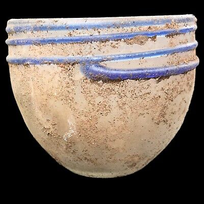 VERY RARE HUGE ANCIENT ROMAN GLASS  VESSEL 1st Century A.D. (2)