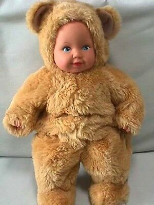 "Collectible Anne Geddes Teddy Bear Doll 15"" Tall"