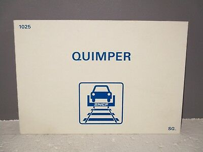 Plaque destination  SNCF  QUIMPER train auto couchette