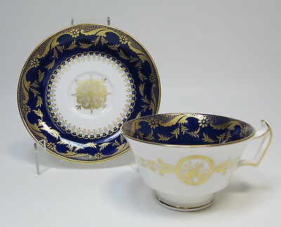 Vintage Mintons for W.H. Plummer NYC Cobalt and Gold Cup and Saucer