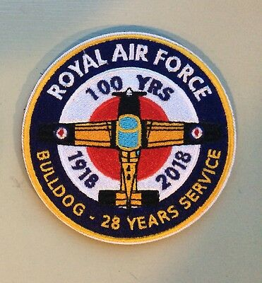 Scottish Aviation Bulldog RAF100 Flight Suit Patch - Limited Edition