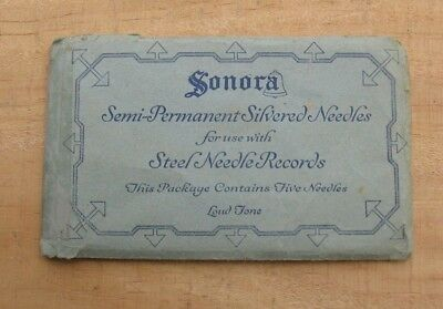 Vintage Sonora Semi-Permanent Phonograph Loud Tone Silvered Needles Package k