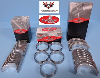 Enginetech Chevy Sbc 305 327 350 5.0 5.7 Rod Main Cam Bearings Set 1968-2002