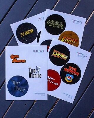 Cult Classic Movie Milestone Stickers Baby Shower Gift Films Cool Different Fun
