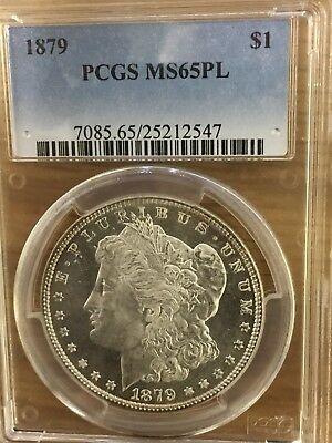 1879 Morgan Silver Dollar PCGS MS65PL