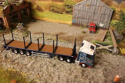 1:76 scale 3D Printed Logging Lorry Stanchions x 8 and 1 x Head Board