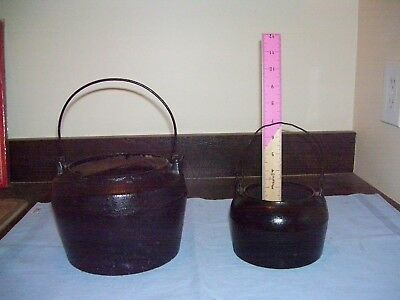 Lot of Two Vintage Cast Ironboth have a Gate Line and Bail Handels