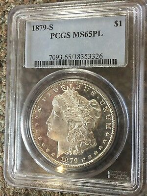 1879-S Morgan Silver Dollar PCGS MS65PL Proof Like