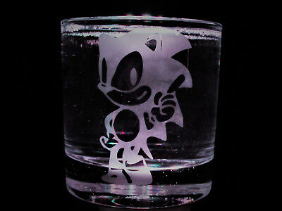 Sonic the Hedgehog Etched Whisky, New, personalised, birthday, wedding, Gifts