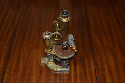 Antique Brass Bausch & Lomb Microscope B & L Optical Co 27452 - Compound 3 Lens