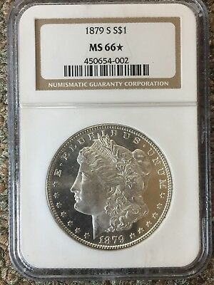 1879-S Morgan Silver Dollar NGC MS 66* Star