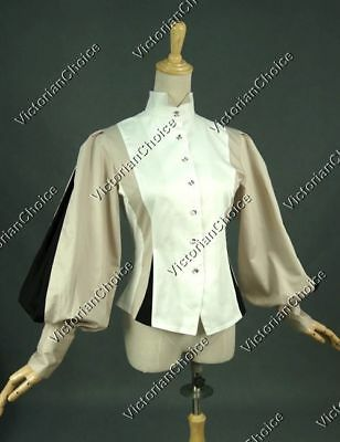 Victorian Vintage Equestrian Riding Blouse Shirt Top Steampunk Theater N B024 M