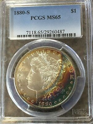 1880-S Morgan Silver Dollar PCGS MS65 Toned