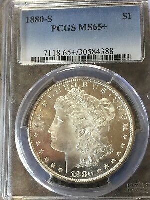 1880-S Morgan Silver Dollar PCGS MS65+ Plus