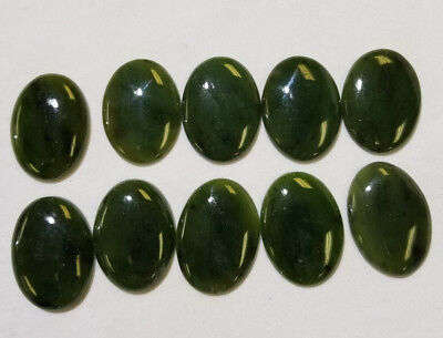CANADIAN NEPHRITE JADE, 1 PIECE,  22x30mm Oval Cabochon