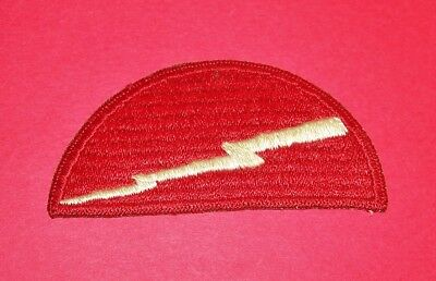 ORIGINAL CUT-EDGE WW2 78th INFANTRY DIVISION RIBBED WEAVE RED BORDER PATCH!