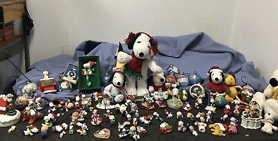 VINTAGE PEANUTS SNOOPY COLLECTOR LOT Ornaments Music Box Plush
