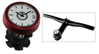 Ahead top cap 1-1/8 headset with analogue clock red Speedlifter bike handlebar