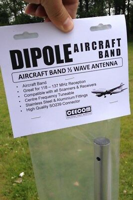 Airband Scanner Antenna for Base Station - Civil Air Band Military Aerial Dipole