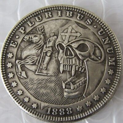 US 1921 Morgan Dollar Skull Zombie Skeleton And Horse Coin