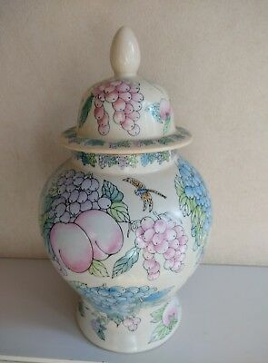antique/vintage beautiful large chinese vase and lid rare