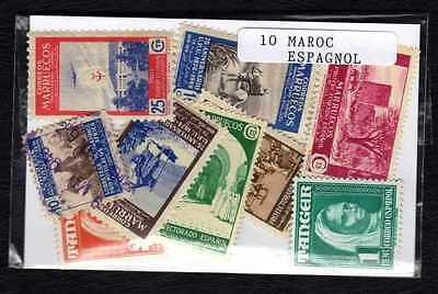 Morocco Spanish - Spanish Morocco 10 stamps different