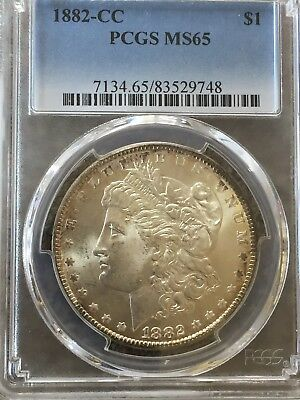 1882-CC Morgan Silver Dollar PCGS MS65