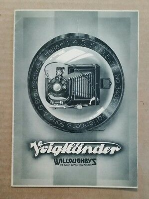 Voigtlander Cameras,Chas.G.Willoughby Inc.,N.Y.,Catalog,1929