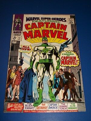 Marvel Super-Heroes #12 Silver Age 1st Captain Marvel Huge Key Issue Wow Fine+
