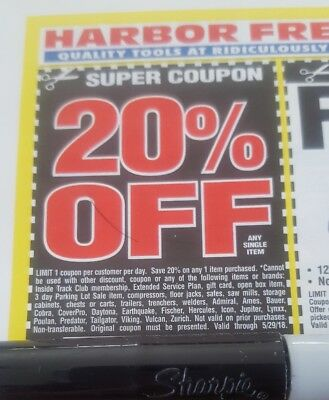 Harbor Freight Coupon 20 Off Any Single Item
