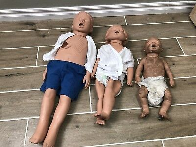 Lot Of 3 Simulaids Water Rescue Training Manikins