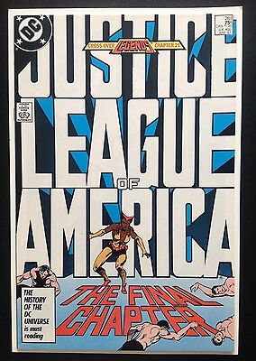 JUSTICE LEAGUE OF AMERICA #261 Low Print Final Issue 1987 Legends Crossover DC