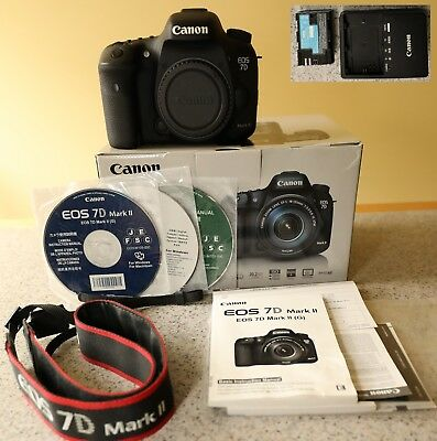 Canon EOS 7D Mark II DSLR Camera w/ Box, Battery, Charger - Shutter Count 5,873