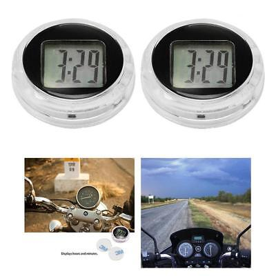 Mini Digital Clock Watch Waterproof Motorcycle w/ Stick Motorbike Time Clock De