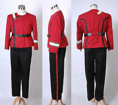 Star Trek II-VI Wrath of Khan WOK Starfleet Captain Kirk Cosplay Uniform Costume