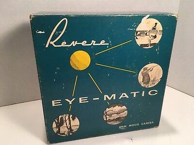 Vintage Revere EYE- MATIC 8mm Auto Movie Camera CA-2 complete in box! Clean Mint